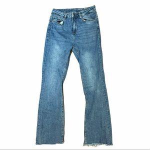 Blue Denim Boot Cut Jeans Noisy May Size 26